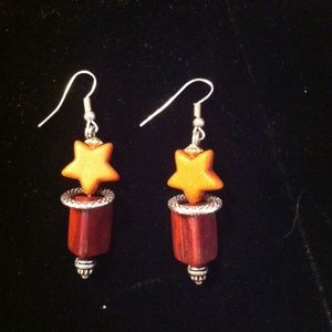 Cutie Patuties Rust Color Stars and Red Triangles
